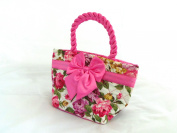 Toiletries Bag Floral with Pink Satin Bow