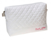 Danielle Pink Ribbon Foundation White Large Cosmetic Bag