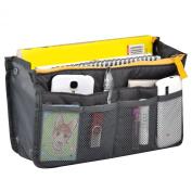 TRIXES Travel Cosmetics Pouch, Professional Bag Insert Organiser for MUA Grey
