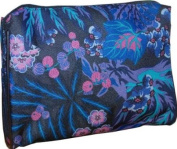 Estee Lauder Makeup Cosmetic Bag Purple Japanese Floral Print