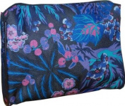 Estee Lauder Makeup Cosmetic Bag Purple Japanese Floral Print