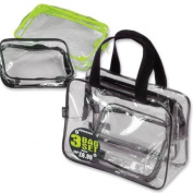 JODA Clear 3 Bag Travel Set