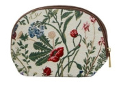 Cosmetic Bag / Canvas Makeup Bag / Morning Garden