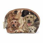 Cosmetic Bag / Makeup Bag Canvas Lovely Labrador Dog Motif