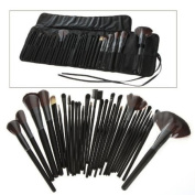 Autek 32 PCS Makeup Brush Set + Black Pouch Bag