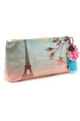 Eiffel Tower Makeup Bag / Small Accessories Pouch