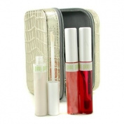 Fresh Face Case - # No. 1 Rosebud ( 1x Lip & Cheek Stain 1x Lip Gloss 1x Highlighter 1x Bag ) 4pcs