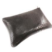 "Leather makeup kit ""Frandi"" black python."
