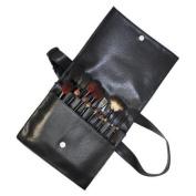 Black Waist Bag - Makeup Brushes x 18pcs CODE