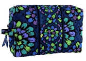 Vera Bradley Indigo Pop Large Cosmetic Plastic Lined Case
