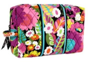 Vera Bradley Va Va Bloom Large Cosmetic Plastic Lined Case