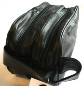 Genuine Real Leather Mens Wash Bag / Gym Bag / Overnight Bag