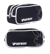 Playboy Basic Range Wash Bag Black/White Pa7733-Blk