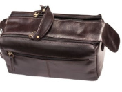 Real Leather Mens Wash Bag / Toiletry Case