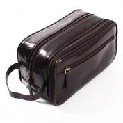 Leather Wash Bag (brown glaze)