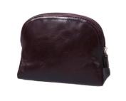 Sage Brown Genuine Leather Toiletry Bag