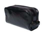 Sage Brown Genuine Leather Classic Wash Bag