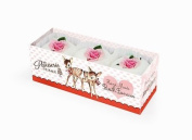 Rose And Co Patisserie De Bain Vintage Fawn Rose Fancies For The Bath 3 x 45g