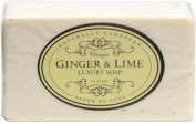 Naturally European Luxurious Natural Ginger & Lime Wrapped Soap Bar 230g