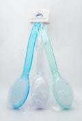 1 Back Bath Brush with Bristles & Long Plastic Handle