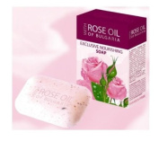 Regina Floris Exclusive Nourishing Soap with Concentrate of Bulgarian Rose Oil, Rose Water and Dried Rose Petals