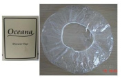 DISPOSABLE SHOWER CAPS PACK OF 50 PIECES - TRANSPARENT - FOR SPA AND SALON
