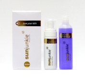 Sunjunkie gradual tanning mousse with free tan safe shower gel