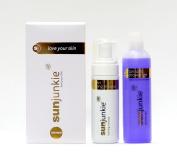 Sunjunkie gradual tanning mousse with free tan safe shower gel