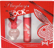 Playboy Rock by Coty 30ml Eau De Toilette and 75ml Body Spray