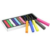 Zehui Non-toxic Temporary DIY Hair Colour Chalk Dye Pastels Salon Kit 12 Colours