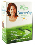 Colour the Grey! Natural Hair Colour & Conditioner, Black, 210ml