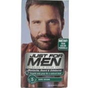 Just For Men Brush-In Colour Gel for Moustache, Beard & Sideburns, Dark Brown M-45 1 ea