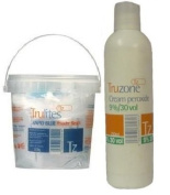Bleach & Peroxide Set Includes 1 Cream Peroxide 9% - 30 Vol 250ml & 1 Trulites Rapid Blue Powder Bleach 500g