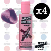 Crazy Colour Semi Permanent Hair Dye By Renbow Bordeaux No.51 (100ml) Box of 4