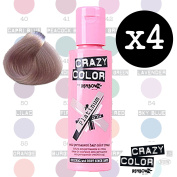 Crazy Colour Semi Permanent Hair Dye By Renbow Platinum No.28(100ml) Box of 4