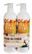Colour Combat - The Dumb Blonde System by TIGI Bed Head Hair Care Tween Set - Shampoo 750ml and Conditioner 750ml 750ml