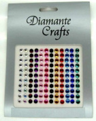 132 x 5mm Mixed Colours Diamante Self Adhesive Rhinestone Body Vajazzle Gems - created exclusively for Diamante Crafts
