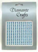 195 x 3mm Turquoise Diamante Self Adhesive Rhinestone Body Vajazzle Gems - created exclusively for Diamante Crafts