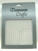 195 x 3mm White Pearl Self Adhesive Rhinestone Body Vajazzle Gems - created exclusively for Diamante Crafts