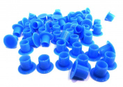"DCTattoo 100 X Blue ""No Holder Flat Base"" Tattoo Ink Caps Cups - Medium"