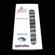10 Pairs False Lashes Eyelashes Black