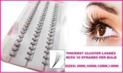 10mm **EXTRA THICK** Individual Eyelash Extension False Eye Lashes Cluster Flare