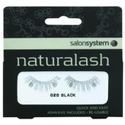 Salon System Naturalash Quick and Easy Re-Usable Black 020 Lashes