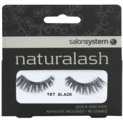 Salon System Naturalash Quick and Easy Re-Usable Black 107 Lashes