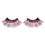 Long Metallic Red & Black False Eyelashes