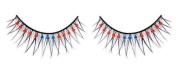 Blue & Red Diamante False Eyelashes 08