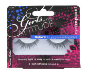 Girls with Attitude Feather Flutter Eye Lashes Set