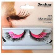 Stargazer No.53 Pink Feathered False Eye Lashes
