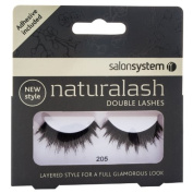 Salon System Naturalash Quick and Easy Re-Usable Black 205 Double Lashes