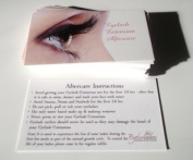Aftercare cards for Eyelash Extensions